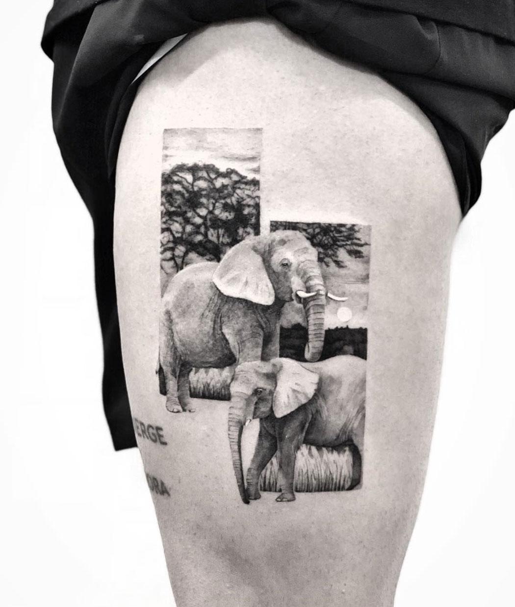 Abstract Elephants
