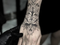Lotus Flower, Ornamental Wrist Tattoo