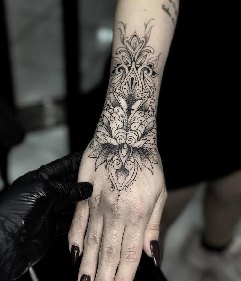 8c3162447 Ornamental Lotus Flower   Best tattoo design ideas