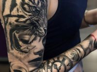 Tiger & Portrait Sleeve
