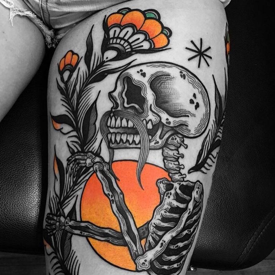 Sunset Skeleton