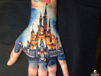 Cinderella Castle hand tattoo