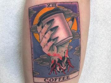 Coffee Tarot Card