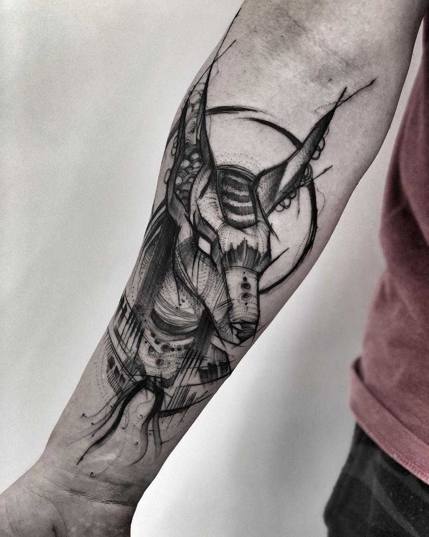 8c44bb7cd Anubis - God of the Dead | Best tattoo design ideas