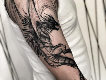 Dragon, Men's arm tattoo