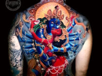 Kali back tattoo