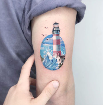 Pretty lighthouse scene