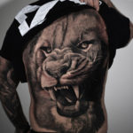 Lion Back Tattoo