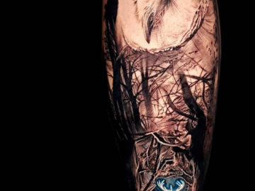 Harry Potter stag patronus tattoo