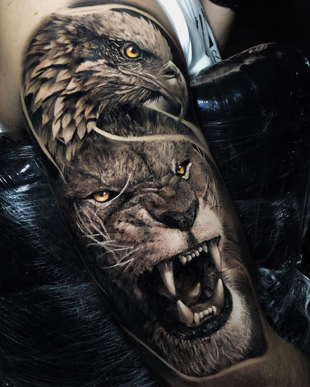 Lion Morph Tattoo: Best Tattoo Design Ideas