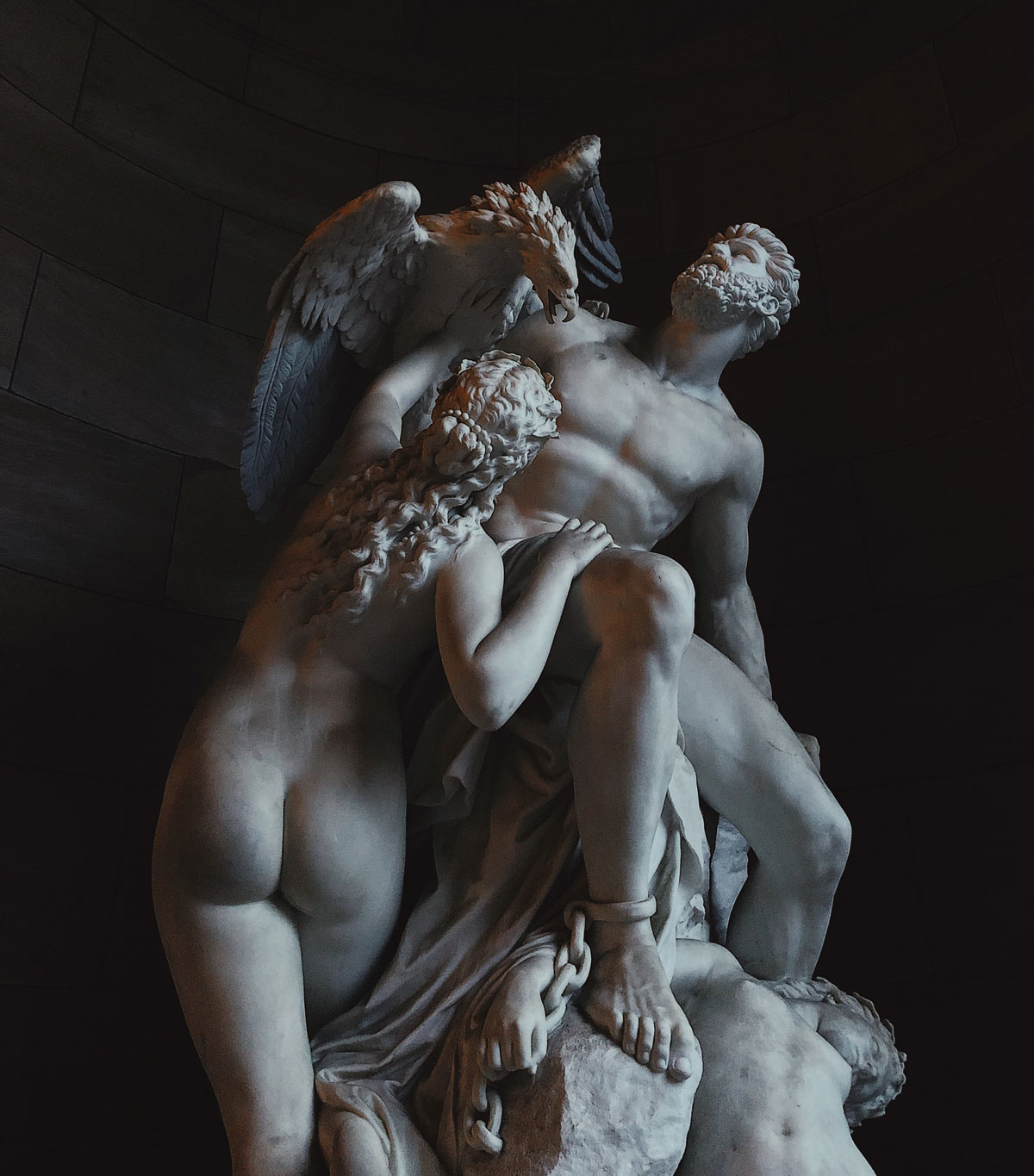 Prometheus Bound and the Oceanids sculpture photo
