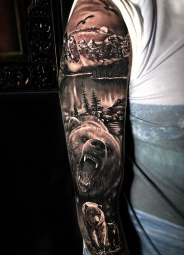 Bears and cub sleeve