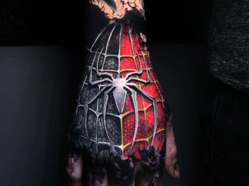 Spider-Man Hand Tattoo