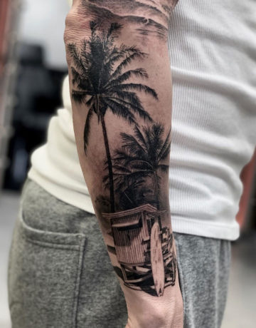 Summer Vibes, surf tattoo
