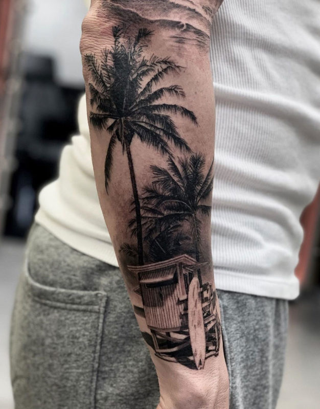 Summer Vibes, surf tattoo
