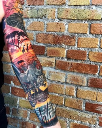 Colorful Africa Sleeve
