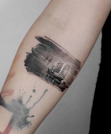 Junk Sailing Ship