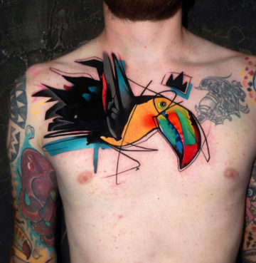 Toucan Chest Tattoo