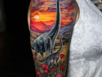 Brachiosaurus arm tattoo