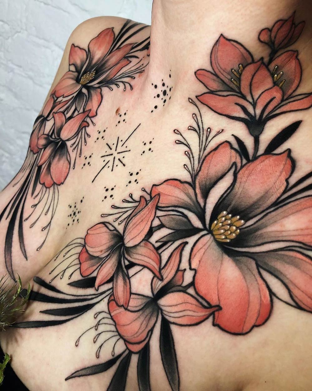 Floral Chest close up