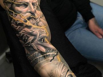 Poseidon & Achilles Sculpture Sleeve