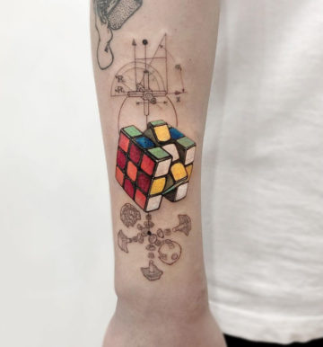 Rubik's Cube Tattoo