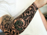 Spiral Clock half sleeve
