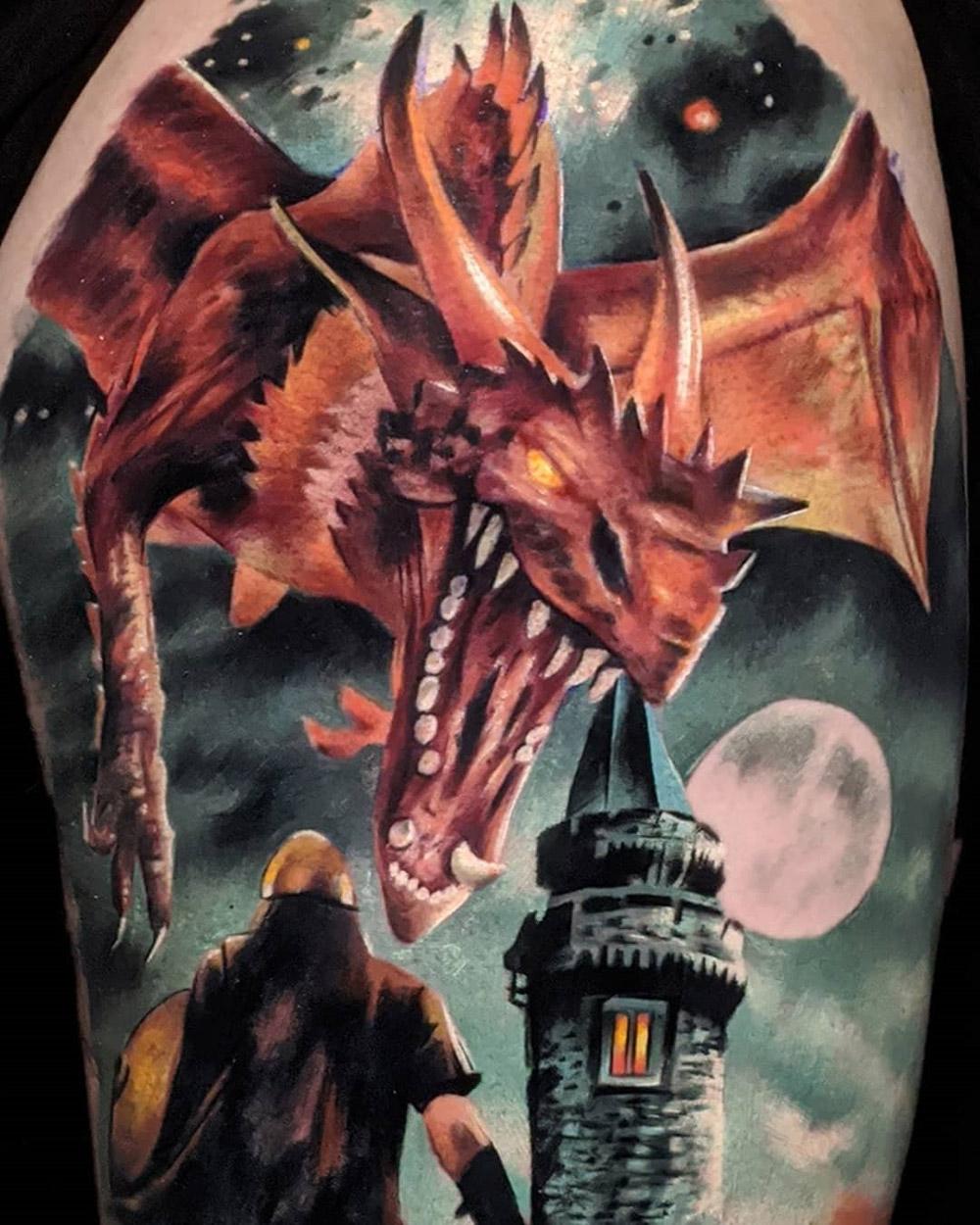 Malazan Dragon detail