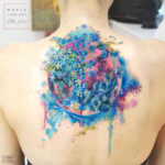 Pretty Floral Back Tattoo