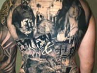 Heaven & Hell, Men's Full Back Tattoo