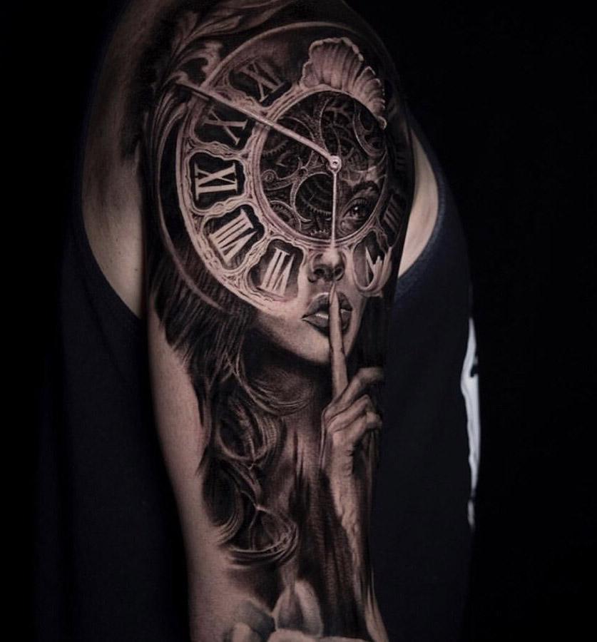 Portrait & Clock