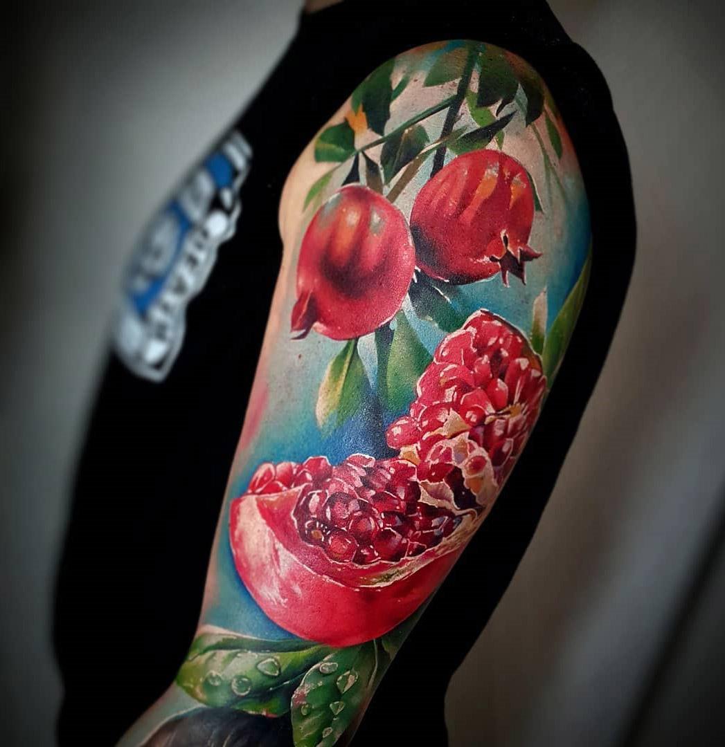 Pomegranates Close-Up