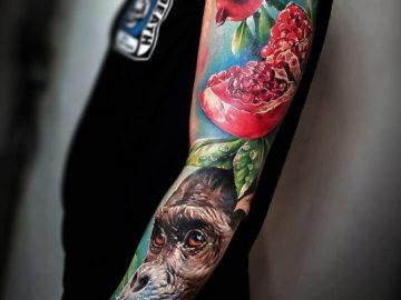 Pomegranates & Chimpanzee Sleeve