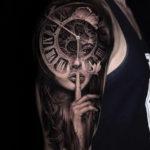 Pretty Lady Portrait & Clock