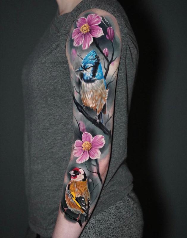Bluejay & Goldfinch Sleeve