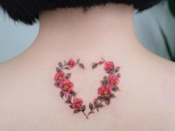 Camellia Heart Wreath