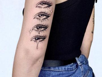 Crying Eyes, girl's arm tattoo