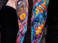 Octopus & Clownfish full sleeve