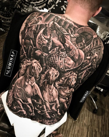 Spartan Back Tattoo