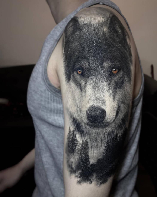 Realistic Wolf Portrait