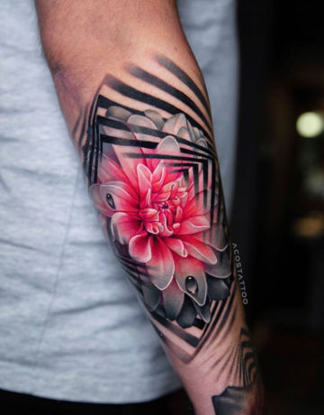 Dahlia arm tattoo