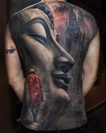 Equanimity, Buddha back tattoo
