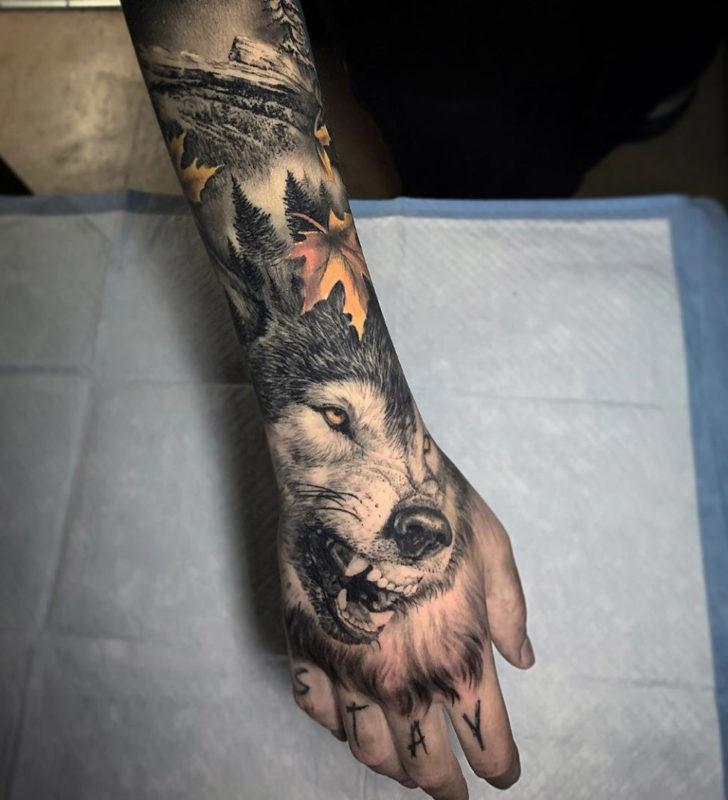 Banger à la main de loup