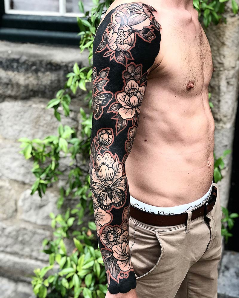 Flowers & Butterflies Sleeve