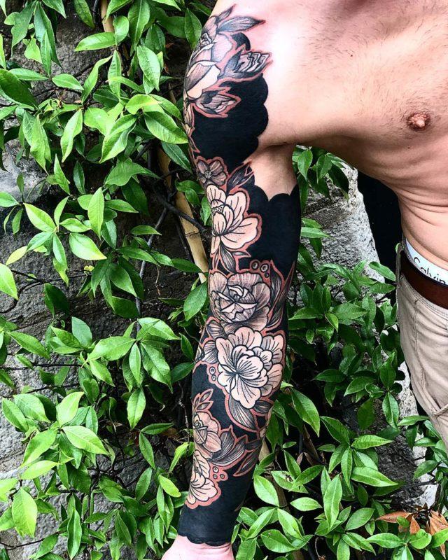 Manchon Fleurs & Papillons