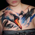 Swan Chest Tattoo