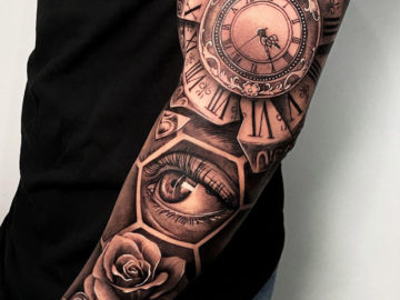 Clock & Eye Full Sleeve