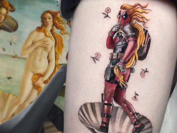 Deadpool as Venus