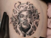 Medusa with Tattoos