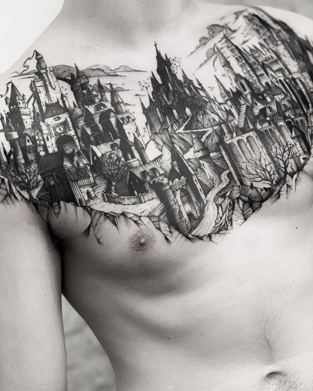Medieval City Chest Piece